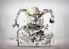 Huge construction robot stock photos