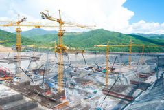 Huge construction site Stock Images
