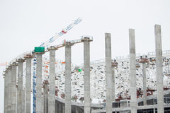 The huge construction site in the daytime Royalty Free Stock Photography