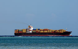 Huge container cargo ship Stock Images