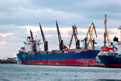 Huge container cargo ship Royalty Free Stock Photo