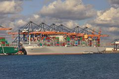 Huge Container Ship Royalty Free Stock Photos
