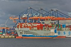 Huge Container Ship stock image
