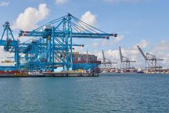 Huge Container Ship Royalty Free Stock Photography