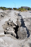 Huge Cracks Appear in Christchurch Earthquake Royalty Free Stock Photography