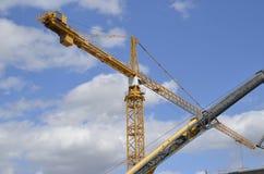 Huge crane criss cross Stock Image