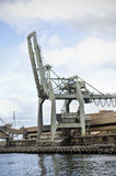 Huge crane on Hobart wharf, Tasmania Stock Images