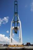 Huge crane in Miami harbor Royalty Free Stock Photo