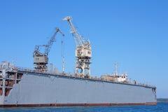 Huge cranes in Kerch, Crimea, Ukraine Stock Images