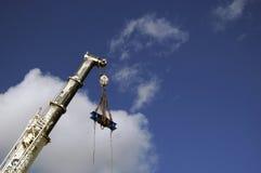 Huge cranes at a sea port Stock Photos