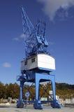Huge cranes at a sea port Royalty Free Stock Image