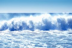Huge Crashing Waves Royalty Free Stock Photo