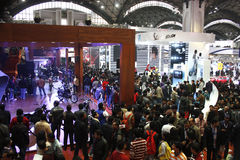 Huge crowd at the Auto Expo 2012 Royalty Free Stock Image