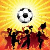 Huge Crowd Celebrating Soccer Stock Photo