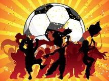 Huge Crowd Celebrating Soccer. Huge Crowd Celebrating Soccer Game Royalty Free Stock Image