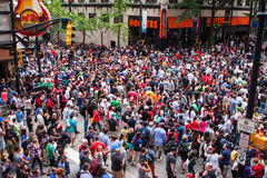 Huge Crowd Disperses Following Annual Atlanta Dragon Con Parade Stock Photography