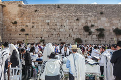Huge crowd of faithful Jews Royalty Free Stock Images