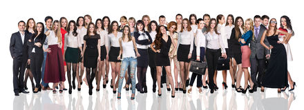 Huge crowd of people. Huge crowd of business people on the white background Stock Photos
