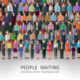 Huge crowd of people vector illustration