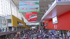Huge crowd of visitors at the 118th canton fair, guangzhou, china Royalty Free Stock Photos