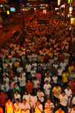 Huge crowd at Wesak Procession 2011 Royalty Free Stock Image