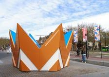 Huge crown in Dordrecht Stock Photos