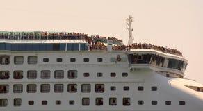 Huge cruise ship Stock Image