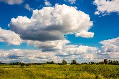 Huge cumulus clouds stock image