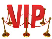 Huge 3d letters VIP and golden rope barrier Royalty Free Stock Photo