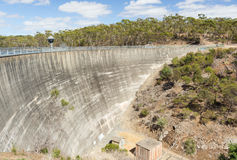 Dam Wall. Huge dam wall of a water reservoir Stock Photos