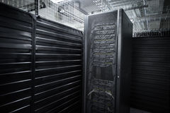 The huge data center server room cloud services Royalty Free Stock Photo