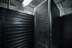 The huge data center server room cloud services Stock Photos
