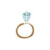 Huge diamond ring cartoon Royalty Free Stock Images