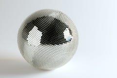 Huge Disco Ball On White Background Stock Photos
