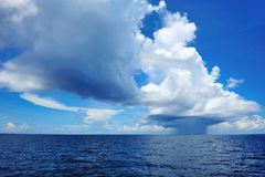 Huge distant cloud with rain Stock Photos