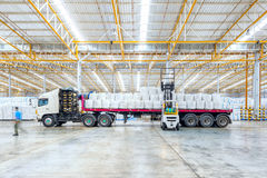 Huge distribution shipping warehouse. For Global business shipping,Logistic,Import and Export business concept Stock Image