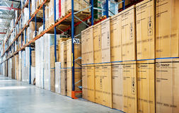 Huge distribution warehouse Royalty Free Stock Image