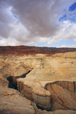 Huge dry sandy canyon Royalty Free Stock Image