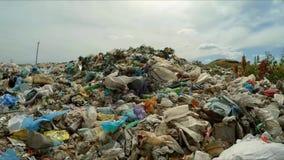 Huge Dump Of Garbage At Landfill In Ukraine stock footage
