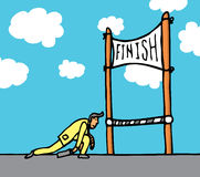 Huge effort getting to the finish line Royalty Free Stock Photo