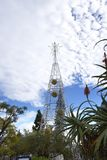 Huge Electric Lights forming a Christmas Tree in Funchal Madeira Stock Photo