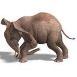 Huge elephant vector illustration