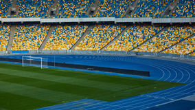 Huge Empty Football Arena Stock Photography