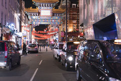Huge Entrance Gate to Chinatown London UK Royalty Free Stock Images