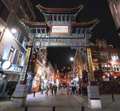 Huge Entrance Gate to Chinatown London UK Royalty Free Stock Photos