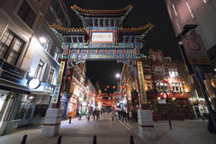 Huge Entrance Gate to Chinatown London UK Stock Image