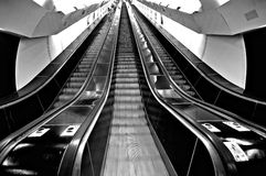 Huge escalator Stock Photography