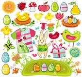 Huge Ester set. Huge set of Ester design elements and icons Stock Photo