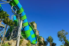 Huge and Exiting Jungle Water Tube Slide Stock Photo