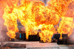 Huge explosion Royalty Free Stock Image